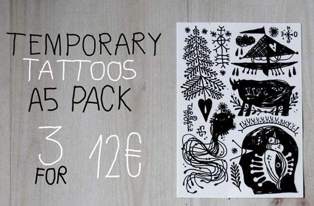 Tarmasz sort des tatouages temporaires!