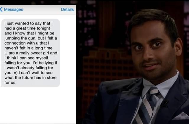 Aziz Ansari et Jimmy Fallon lisent des textos de drague