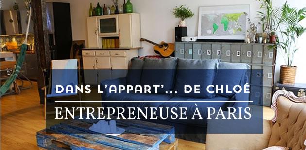 Dans l'appart' de Chloé, entrepreneuse à Paris