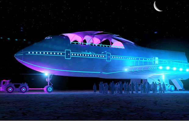 burning man avion