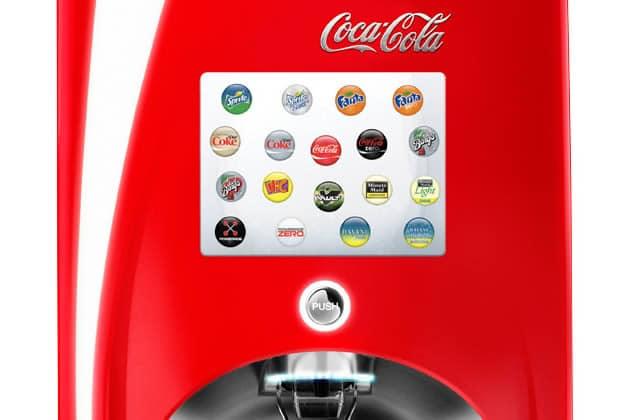 La machine Coca-Cola freestyle chez Five Guys, pour avoir l'embarras du choix