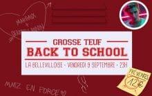 La #GrosseTeuf #BackToSchool, le 9 septembre à la Bellevilloise!