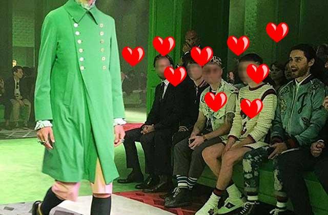 Jared Leto, un manteau Gucci vert et leur coup de foudre