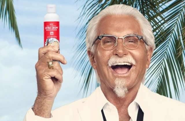La crème solaire parfum poulet frit, un WTF beauté signé KFC