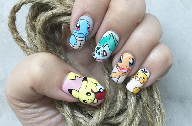 Idées de nail-arts Pokémon pour être la meilleure dresseuse!