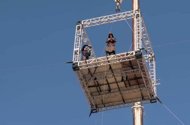 Découvrez les coulisses du saut de la foi, une scène d'«Assassin's Creed» qui s'annonce mémorable