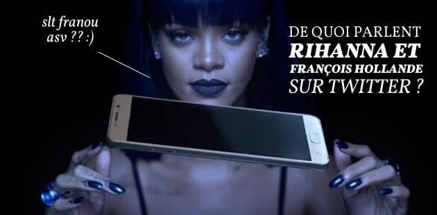 De quoi parlent François Hollande et Rihanna sur Twitter?