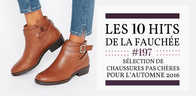 Sélection de chaussures pas chères pour l'automne 2016 — Les 10 Hits de la Fauchée #197
