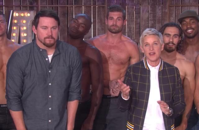 Channing Tatum et les danseurs de «Magic Mike» mettent le feu au plateau d'Ellen DeGeneres