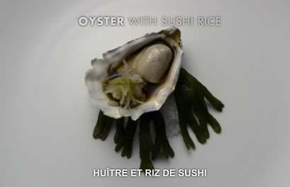 huitre riz sushi