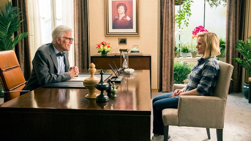 the good place ted danson kristen bell