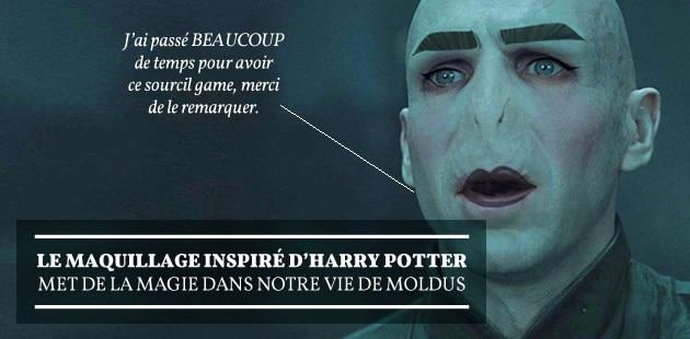 Le maquillage inspiré d'Harry Potter met de la magie dans notre vie de Moldus