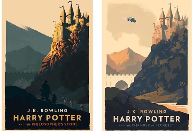 Affiches Harry Potter La Saga De Poudlard Illustre