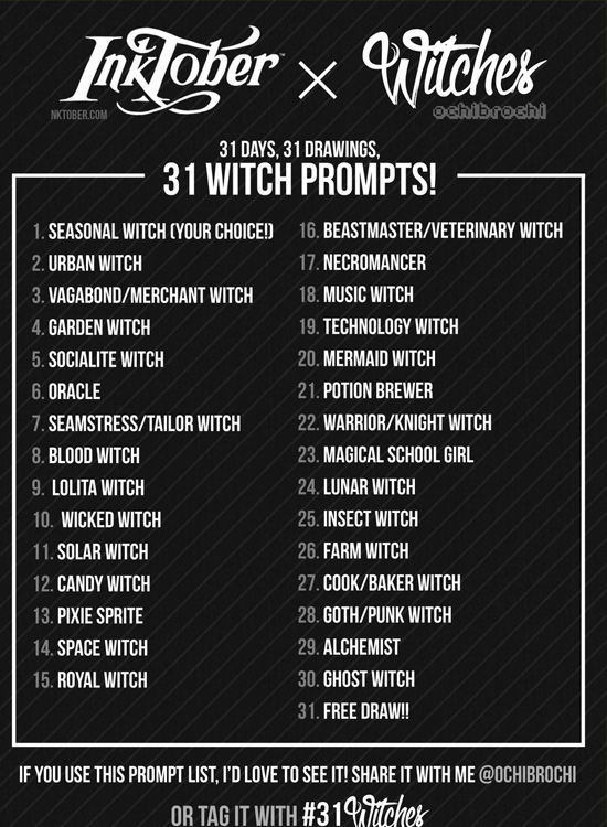 inktober-2016-witches-list