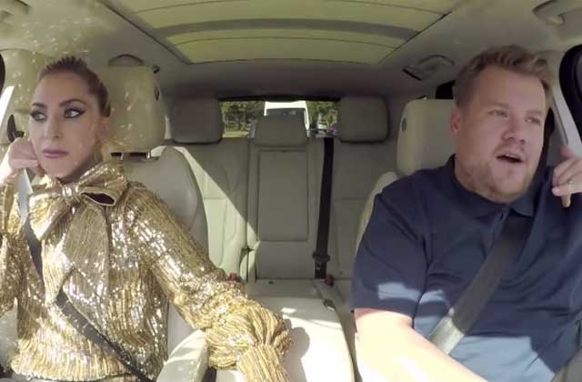 Lady Gaga embarque dans le Carpool Karaoke de James Corden