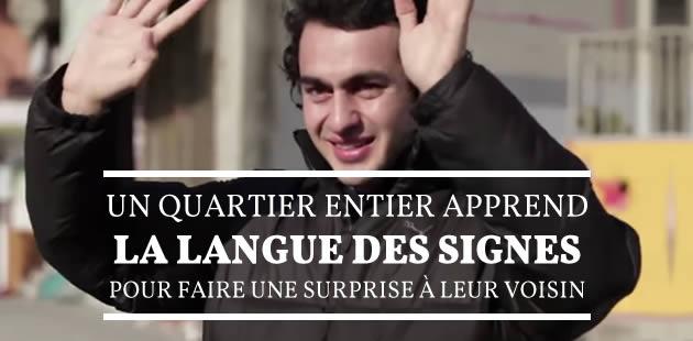 L'instant feel-good : tout un quartier apprend la langue des signes… pour surprendre un voisin malentendant