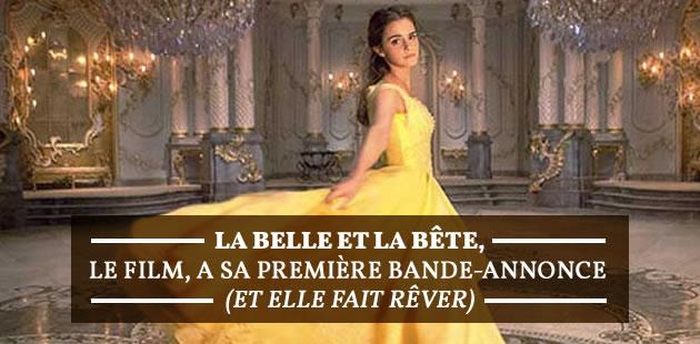 La Belle et la Bête, le film, a sa première bande-annonce (et elle fait rêver)