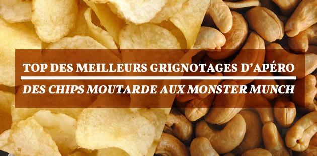Top des meilleurs grignotages d'apéro, des chips moutarde aux Monster Munch