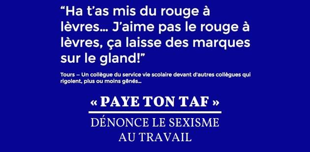 «Paye ton taf» dénonce le sexisme au travail