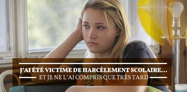 J'ai été victime de harcèlement scolaire… et je ne l'ai compris que très tard