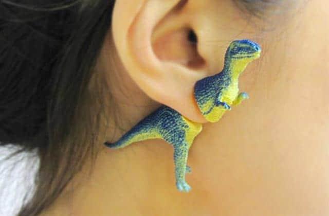 Les boucles d'oreille dinosaure, pour avoir la classe façon Jurassic Park