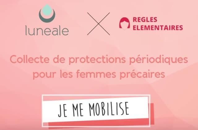 Offrez des protections hygiéniques aux sans-abri grâce à l'action Luneale x Règles élémentaires