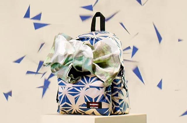 Le sac Eastpak de notre adolescence revisité de façon très artistique pour la bonne cause