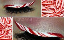 L'eye-liner sucre d'orge invite l'esprit de Noël dans l'univers beauté