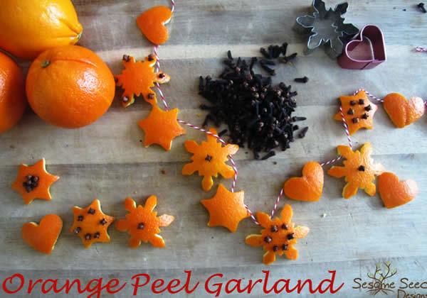 diy guirlande pinterest deco orange
