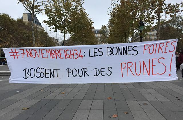 On était à la manif du #7novembre16h34 pour l'égalité salariale — Reportage