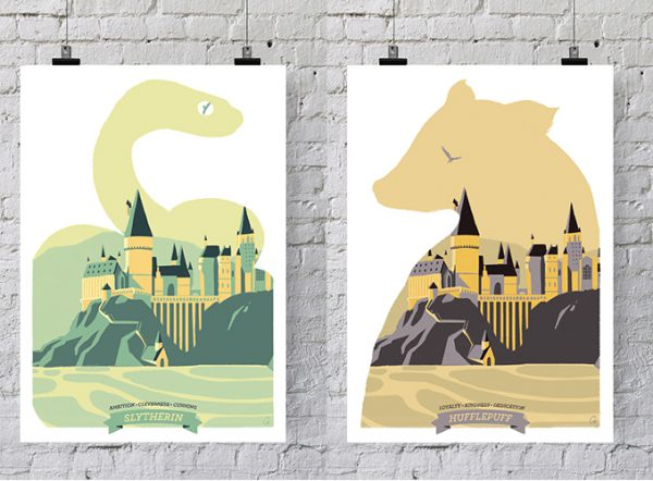 affiches-harry-potter-cy-serpentard-poufsouffle