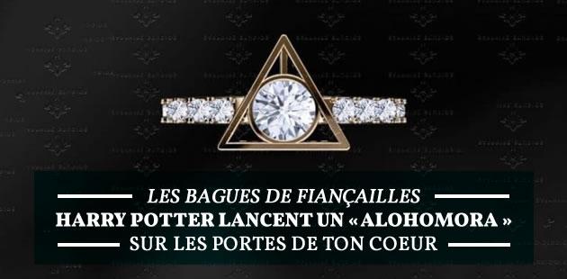 Accio carte bleue, les bagues de fiançailles Harry Potter sont là!