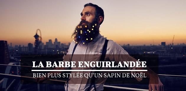 La barbe enguirlandée, bien plus stylée qu'un sapin de Noël