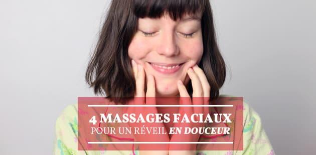 4 façons de se masser le visage pour un réveil en douceur