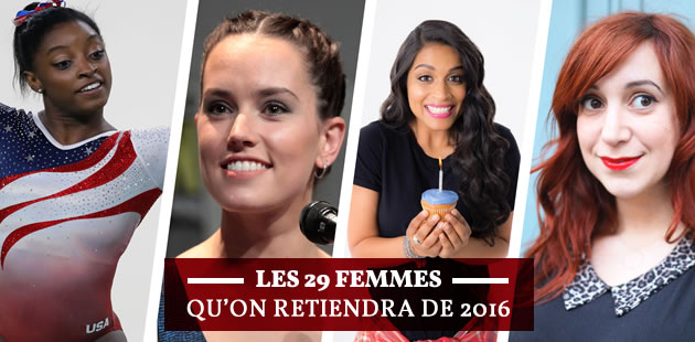 Les 29 femmes qu'on retiendra de 2016