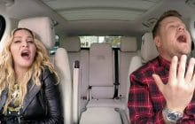 Madonna chante et fait des révélations à James Corden dans son Carpool Karaoke