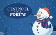 Viens vivre la magie de Noël sur le forum!