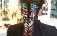 Le Rainbow Glitter Hair, pour une explosion de paillettes dans les cheveux