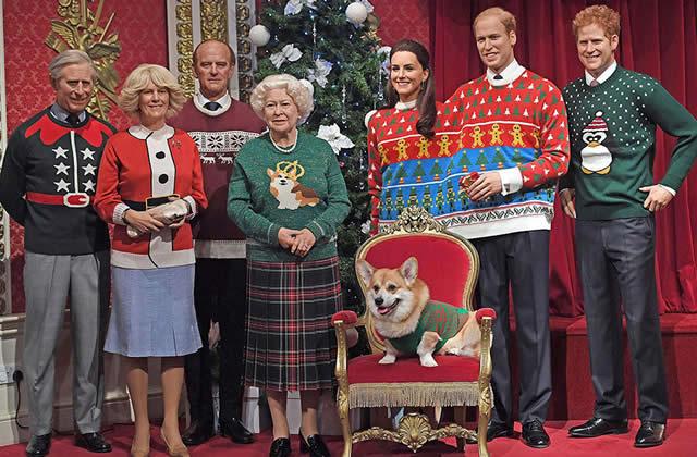 noel 2018 famille royale anglaise La famille royale d'Angleterre en pulls de Noël kitsch : photo noel 2018 famille royale anglaise