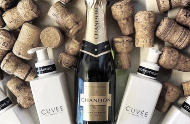 La gamme de shampoing au champagne — WTF Beauté festif