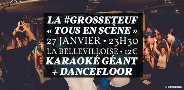 La #GrosseTeuf Tous en Scène vous fait danser all night long le 27janvier à la Bellevilloise !
