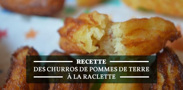 Les churros au fromage à raclette, recette hivernale à manger avec les doigts