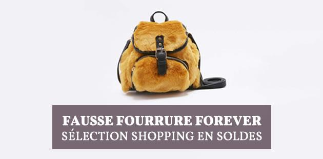 Sélection shopping soldée 100%fausse fourrure