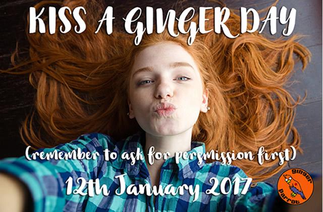 Embrassez un roux ou une rousse, c'est le #KissAGingerDay!