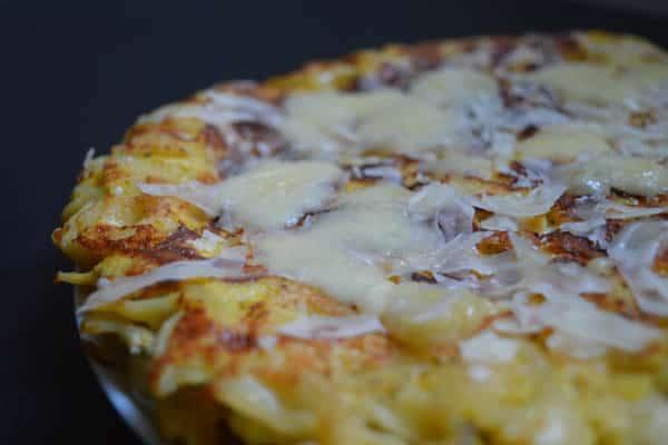 omelette fromage pâtes parmesan