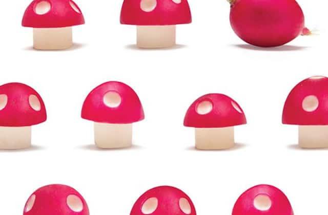Transformez vos radis en champignons de Mario!