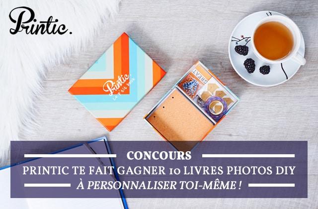 Concours— Printic te fait gagner 10 livres photos DIY à personnaliser toi-même!