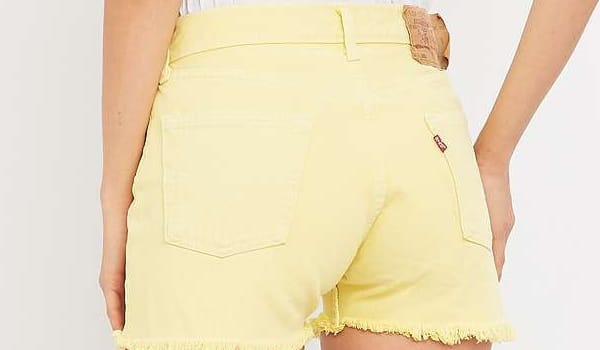 short-jaune-urban-outfitters