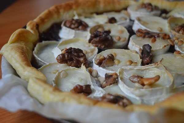 tarte chevre noix