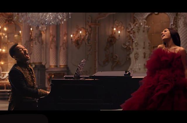 Immersion en pleine salle de bal avec Ariana Grande et John Legend dans le clip de «Beauty and the Beast»